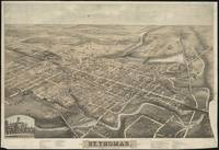 Vintage Pictorial Map of St. Thomas Ontario (1875)