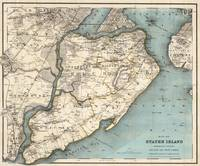 Vintage Map of Staten Island NY (1896)