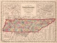 Vintage Map of Tennessee (1859)