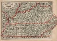 Vintage Tennessee and Kentucky Railroad Map (1883)