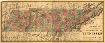 Vintage Tennessee Railroad Map (1888)