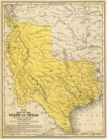 Vintage Map of Texas (1847)