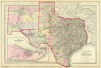 Vintage Map of Texas (1890)