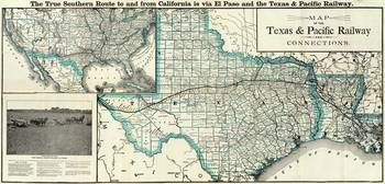 Vintage Texas and Louisiana Railroad Map (1903)