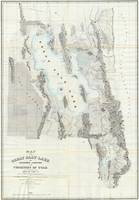 Vintage Map of The Great Salt Lake (1852)