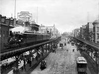 Elevated NYC Steam Train, Above The Bowery (1896)
