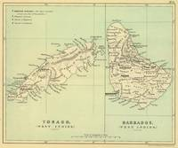 Vintage Map of Barbados and Tobago (1853)