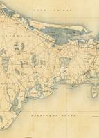 Vintage Map of Barnstable Massachusetts (1893)