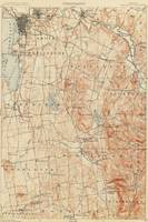 Vintage Burlington Vermont Topographic Map (1904)