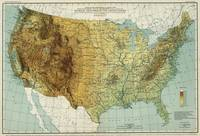 Vintage United States Physical Features Map (1915)