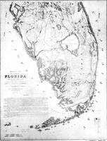 Vintage Map of Southern Florida (1856)