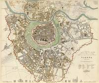 Vintage Map of Vienna Austria (1833)
