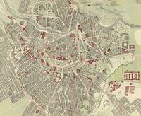 Vintage Map of Vienna Austria (1883)