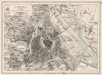 Vintage Map of Vienna Austria (1906)