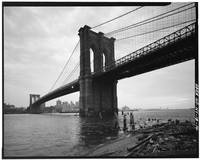 Brooklyn Bridge Black and White Photograph