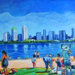 """Beach at Ferry Landing Coronado California"" by BeaconArtWorksCorporation"
