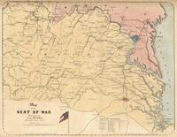 Vintage Map of The Virginia Battlefields (1861)