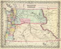 Vintage Map of Washington and Oregon (1856)