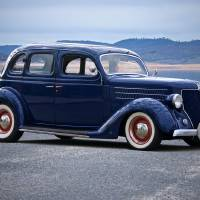 1936 Ford Deluxe Four Door Sedan Art Prints & Posters by Dave Koontz