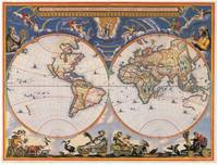 Vintage Map of The World (1662)