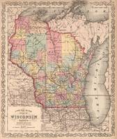 Vintage Map of Wisconsin (1859)