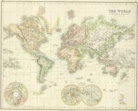 Vintage Map of The World (1872)