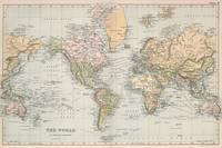 Vintage Map of The World (1892)