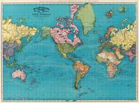 Vintage Map of The World (1897)