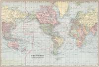 Vintage World Map (1901)