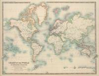 Vintage Map of The World (1911)