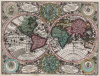 Vintage Map of The World (1744)