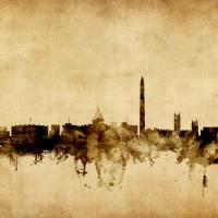 Washington DC Skyline Cityscape Art Prints & Posters by Michael Tompsett