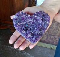 Amethyst Heart in Hand