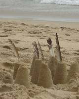 Sand Castles with Feathers