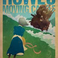 Howls Moving Castle Art Prints & Posters by James Bacon