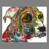 Pup collage Art Prints & Posters by Ricki Mountain
