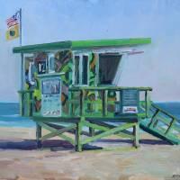 Lifeguard Tower Art Prints & Posters by John Kilduff