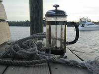 Morning Coffee at the Dock