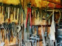 Wall Of Tools With Shop Apron