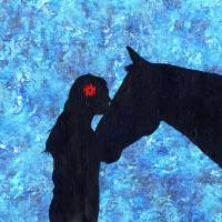 Horse & Lady Art Prints & Posters by Stephen Twite