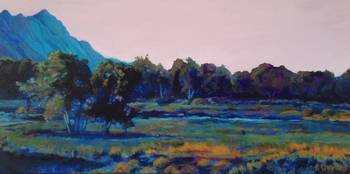 Early Morning on the Tuyuna Trail_10 x 20 acrylic
