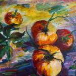 """Oil Painting Still Life Tomatoes by Ginette"" by GinetteCallaway"