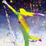 """Colorful Dancing Nude"" by brianraggatt"