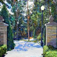 """Balboa Park  Gate to the Archery Range"" by RD Riccoboni"