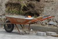 Orange Wheelbarrow