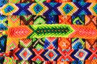 Colorful Threads in Woven Bracelets