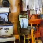 """Laundry Drying in Kitchen"" by susansartgallery"