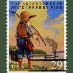 """Adventures Of Huckleberry Finn Stamp"" by WilshireImages"