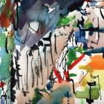 """""""Abstract Modern Art Watercolor Ink Smoke 2"""" by GinetteCallaway"""