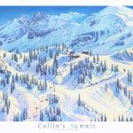 """Collins Summit with border and title"" by jamesniehuesmaps"